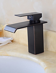 Art Deco/Retro Tall/­High Arc Pull-out/­Pull-down Standard Spout Vessel Ceramic Valve Oil-rubbed Bronze , Kitchen faucet