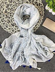 Women's Linen Rectangle Polka Dot Winter