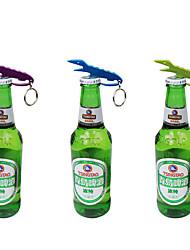 Crocodile Shape Bottle Opener Key Organizer Holder Chain Ring Random Color