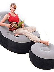 Intex Sleeping Pad/Soft Camping Camping/Hiking/Caving Flocked Portable Foldable Compact Travel Rest Stretchy All Seasons PVC Flocking