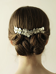 Gold Bridal Comb Leaf Headpiece Silver Hair Double Comb-Wedding Special Occasion Anniversary Birthday Party/ Evening Hair Combs Flowers