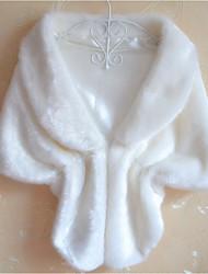 Для женщин На каждый день Осень Зима Пальто с мехом V-образный вырез,Уличный стиль Однотонный Короткая Без рукавов,Искусственный мех