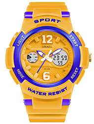 Smael Men's Kid's Sport Watch Chinese Digital PU Band White Blue Orange Pink
