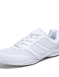 Women's Athletic Shoes Comfort Light Soles Summer Fall Tulle Fitness & Cross Training Athletic Outdoor Split Joint Flat Heel White Flat