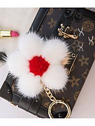 Saco / telefone / chaveiro charme flor cartoon brinquedo pele de vison