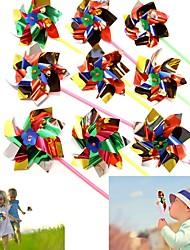 Dazzling Toys Paradise Party Pinwheels - Pack of 10 - Multi Flamboyant Colors Pinwheel Measures 6 Stick Measures 11