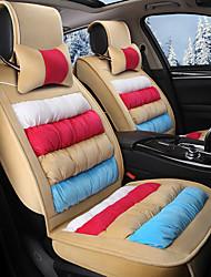 housse de siège en satin à rayures à rayures arc-en-ciel housse de siège d'hiver entourée d'assise assise beige