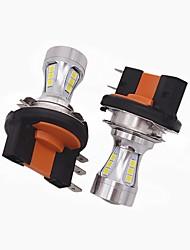2x mini design super brillant h15 led phare ampoule h15 haute puissance basse / led drl fonction adaptée pour vw audi bmw ford
