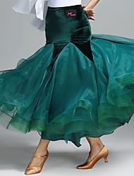 Für den Ballsaal Balletröckchen und Röcke Damen Aufführung Samt 1 Stück Normal Röcke