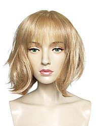 Mujer Pelucas sintéticas Sin Tapa Corto Liso Blonde Corte Bob Peluca de cosplay Peluca natural Peluca de fiesta Peluca de celebridades