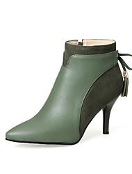 Femme Chaussures Similicuir Automne Hiver Bottes à la Mode Bottes Talon Aiguille Bout pointu Bottine/Demi Botte Pour Soirée & Evénement