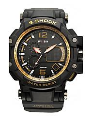 Муж. Спортивные часы Наручные часы Повседневные часы электронные часы Swiss Цифровой LED Календарь Защита от влаги С двумя часовыми