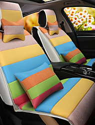 um amortecedor do carro do cartoon do arco-íris almofada de linho assento assento da tampa quatro estações gerais em toda a roupa inteira