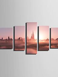 Canvas Print Five Panels Canvas Vertical Print Wall Decor For Home Decoration