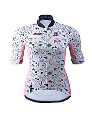 Cycling Jersey Women's Short Sleeves Bike Jersey Fast Dry Quick Dry High Elasticity YKK Zipper Stretchy Breathability PolyesterGeometric