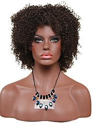 Mujer Pelucas sintéticas Sin Tapa Corto Afro Rizos Jheri Negro Peluca afroamericana Para mujeres de color Peluca de fiesta Peluca de