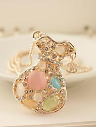 Жен. Ожерелья с подвесками Ожерелья-цепочки Опал Бижутерия Сплав Мода Pоскошные ювелирные изделия Бижутерия Назначение Повседневные