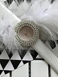Mulheres Relógio de Moda Simulado Diamante Relógio Relógio Pavé Quartzo Couro Banda Brilhante Preta Branco Vermelho Dourada