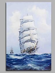 Pintados à mão Inspirador Vertical,Artistíco Moderno/Contemporâneo Escritório/Negócio Legal Natal Ano Novo 1 Painel Tela Pintura a Óleo