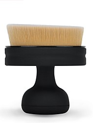 1pc Foundation Brush Synthetic Hair Portable Easy Carrying Easy to Carry Plastic Face Men and Women Daily Health&Beauty