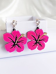 Women's Stud Earrings Acrylic Fashion Personalized China Flower Jewelry For Stage Club
