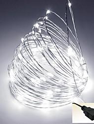 5m usb 5v-50LED decoración impermeable llevó el cobre cadena de luces de navidad de alambre para la boda del festival del patio partido
