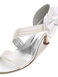 Damen Schuhe Satin Frühling Sommer D'Orsay und Zweiteiler Pumps Knöchelriemen Komfort Hochzeit Schuhe Niedriger Absatz Kitten Heel-Absatz