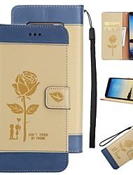 для чехлов держатель карты держатель кошелек с подставкой флип-паттерн полный корпус чехол цветок твердый кожа pu для samsung галактика