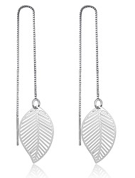 Women's Earrings Set Basic Sterling Silver Leaf Jewelry For Party
