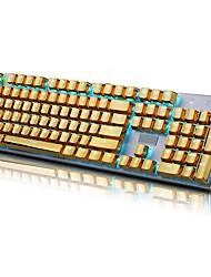 Электронный элемент 104 pbt с двойным выстрелом с подсветкой с золотым металлическим цветным ключом для всех механических клавиатур с