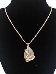Жен. Ожерелья с подвесками Ожерелья-цепочки Имитация Опал Бижутерия Змея Сплав Мода Pоскошные ювелирные изделия Бижутерия Назначение