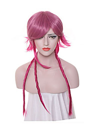 Women Synthetic Wig Capless Long Afro Red Plait Hair Faux Dreads Party Wig Halloween Wig Carnival Wig Cosplay Wigs Costume Wigs