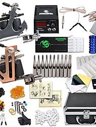 Kit de tatouage complet 2 x Machine à tatouer en acier pour le traçage et l'ombrage 2 Machines de tatouage LCD alimentationEncres