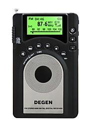 DE15 Radio portatil Tiempo de dormir Negro