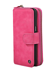For Case Cover Card Holder Wallet Flip Magnetic Full Body Case Solid Color Hard PU Leather for Samsung Galaxy Note 8