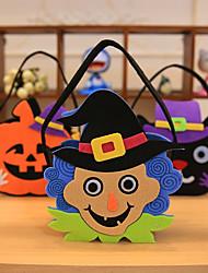 Pumpkin Smile Bag Child Kids Candy Bag Handbag Halloween Holiday Party Decor 22*15cm
