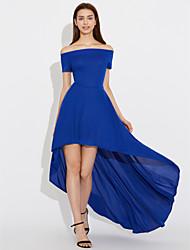 Women's High Low Hem Off Shoulder Party Dress