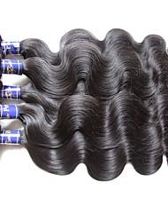 Qualidade real de qualidade superior peruano corpo onda cabelo virgem 6bundles 600g lote para duas cabeças de tecidos naturais preto cor