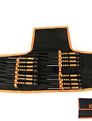 Conjunto de ferramentas de reparação de parafusadeira torx / pentalobe / slotted / phillips de 15 em 1 de precisão, para telefone laptop
