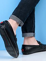 Для мужчин обувь Замша Осень Зима Удобная обувь Светодиодные подошвы Топ-сайдеры Для прогулок Назначение Повседневные Белый Черный