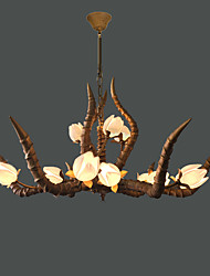 American Country Retro Creative Boutique Antlers Lotus Droplight Sitting Room Hotel Teahouse Personality Zen Horns Lights
