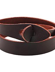 Муж. Жен. Кожаные браслеты Мода Multi-Wear способы Кожа Круглой формы Бижутерия Назначение Повседневные На выход