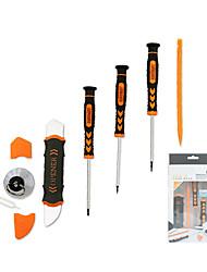 7 i 1 mobiltelefon reparationsværktøj kit spudger pry åbningsværktøj skruetrækker sæt til iphone ipad samsung håndværktøj sæt