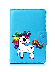 caso universal de la cubierta del soporte de la PU del unicornio para 7 pulgadas 8 pulgadas 9 pulgadas 10 pulgadas tableta PC