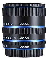 andoer metal colorido ttl enfoque automático af macro anillo de tubo de extensión para canon eos ef ef 60s 7d 5d ii 550d azul