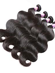 cabelo de cor natural tece textura malásia onda corporal 18 meses 4 pedaços de tecidos de cabelo