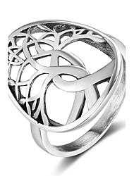 Mulheres Anéis Grossos Personalizado Prata de Lei Árvore da Vida Jóias Para Natal