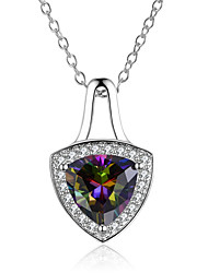 Women's Pendant Necklaces AAA Cubic Zirconia Drop Jewelry Cubic Zirconia Gold Plated Fashion Luxury Jewelry For Wedding Stage