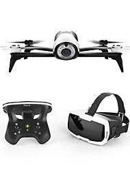 Drone Bebop 2.0 Drone with FPV Goggles 4CH 3 Eixos Com Câmera HD de 1080P WIFI FPV Retorno Com 1 Botão Reunir Dados De Voo Posicionamento