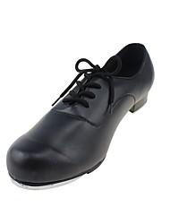 Men's Tap Leatherette Sneaker Performance Chunky Heel Black